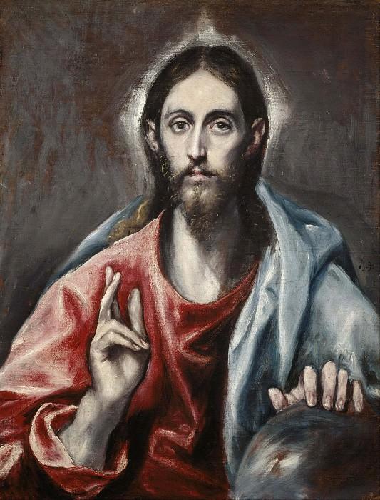 Christ Blessing. El Greco