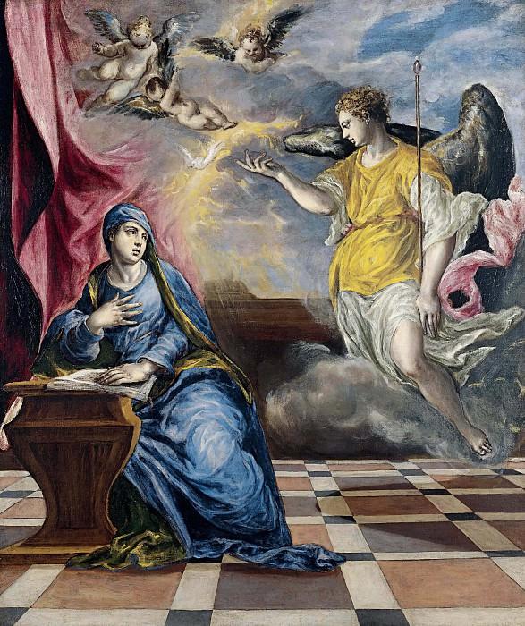 The Annunciation. El Greco