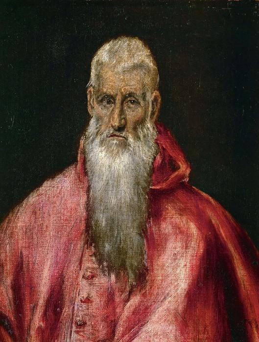 Saint Jerome as a Cardinal. El Greco