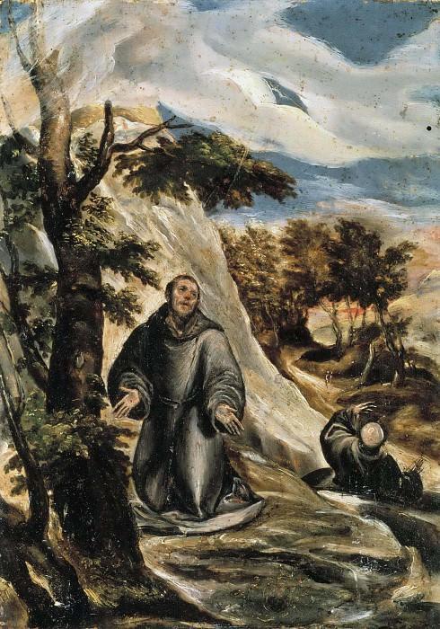 St Francis Receiving the Stigmata. El Greco