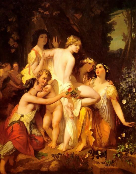 The Bath of Venus 1845. Auguste Glaize