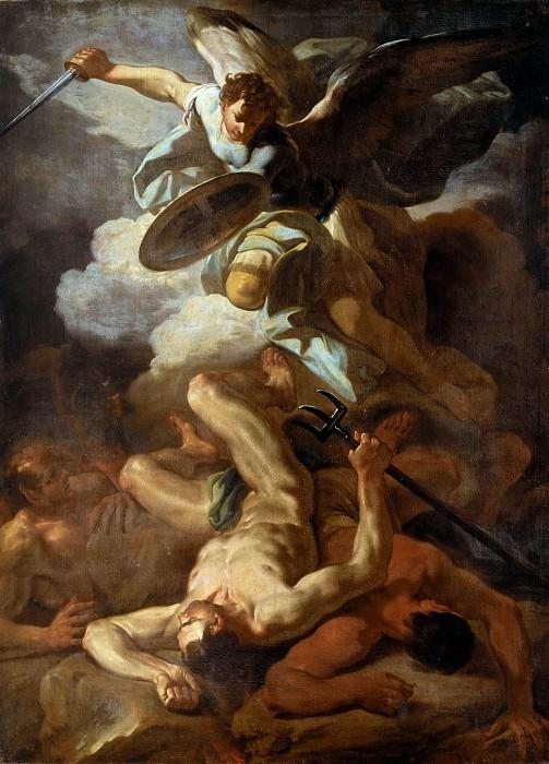 The Archangel Michael Defeating Lucifer. Corrado Giaquinto
