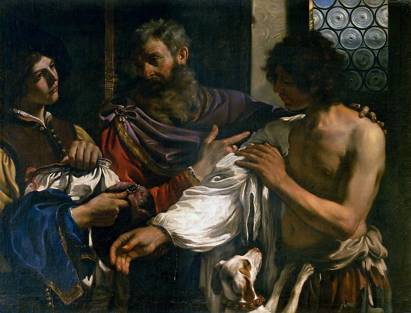 Return of the Prodigal Son. Guercino (Giovanni Francesco Barbieri)