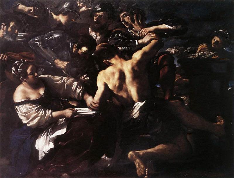 Samson Captured by the Philistines. Guercino (Giovanni Francesco Barbieri)