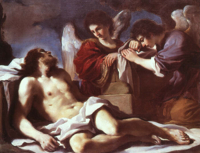 Angels Weeping over the Dead Christ. Guercino (Giovanni Francesco Barbieri)
