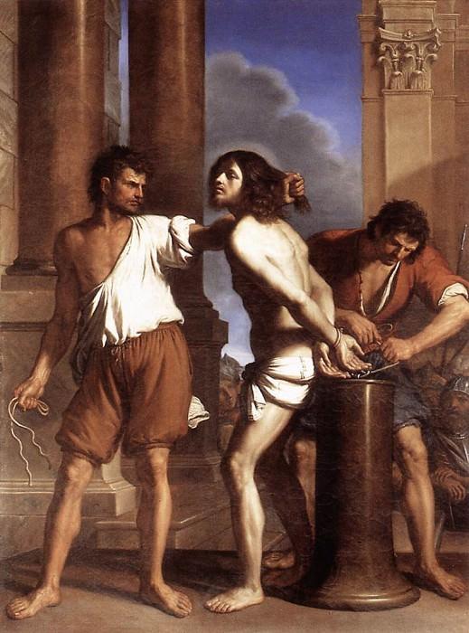 The Flagellation of Christ. Guercino (Giovanni Francesco Barbieri)