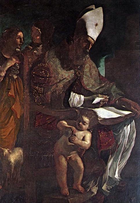 St Augustine. Guercino (Giovanni Francesco Barbieri)