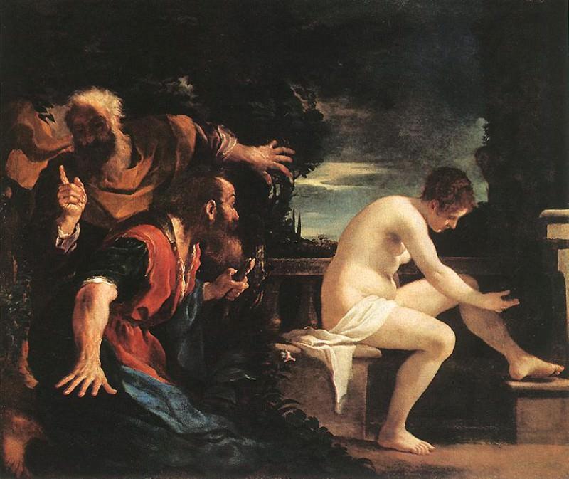 Susanna and the Elders. Guercino (Giovanni Francesco Barbieri)