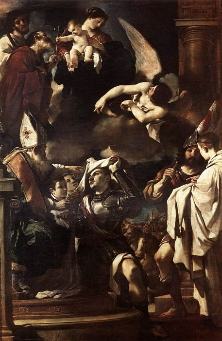 St William of Aquitaine Receiving the Cowl. Guercino (Giovanni Francesco Barbieri)