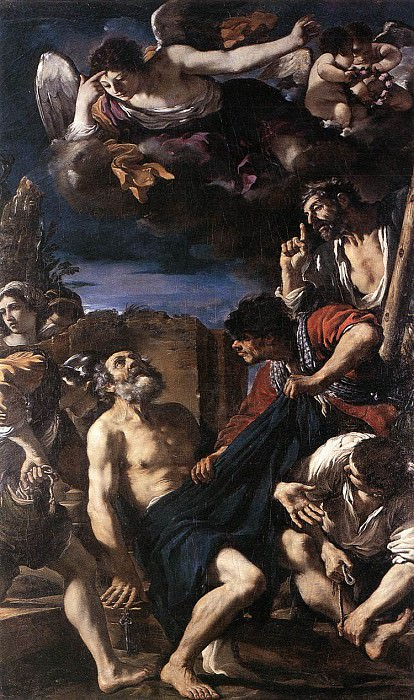 The Martyrdom of St Peter. Guercino (Giovanni Francesco Barbieri)