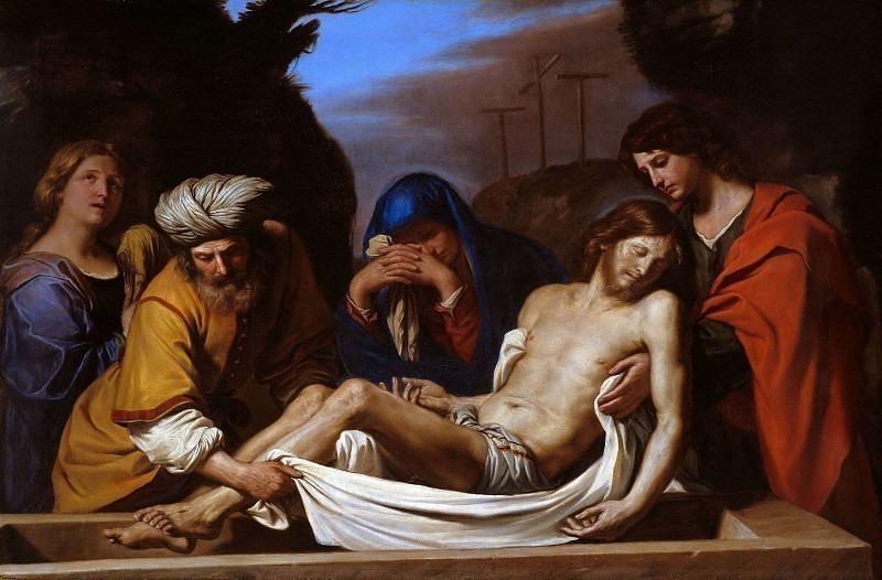 The Entombment of Christ. Guercino (Giovanni Francesco Barbieri)
