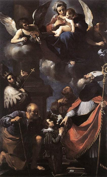 A Donor Presented to the Virgin. Guercino (Giovanni Francesco Barbieri)