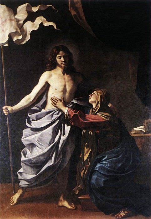 The Resurrected Christ Appears to the Virgin. Guercino (Giovanni Francesco Barbieri)