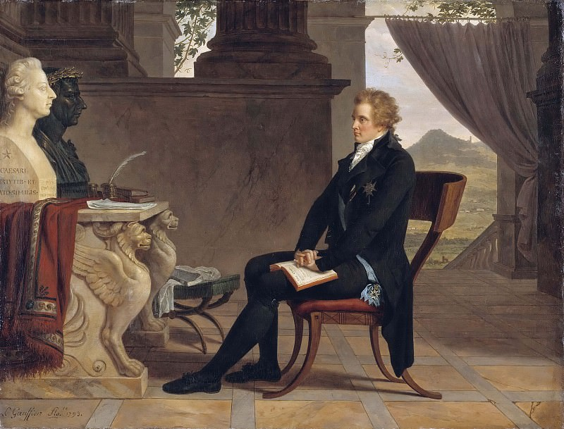 Count Gustaf Mauritz Armfelt in Florence. Louis Gauffier