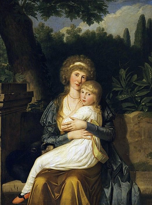 Elizabeth Drummond, Lady Hervey, and her daughter Elizabeth. Louis Gauffier