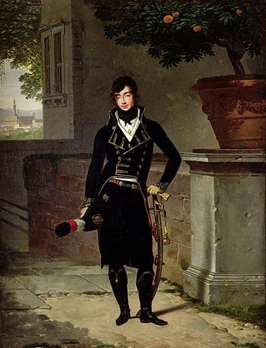 Portrait of an Officer of the Cisalpine Republic. Louis Gauffier