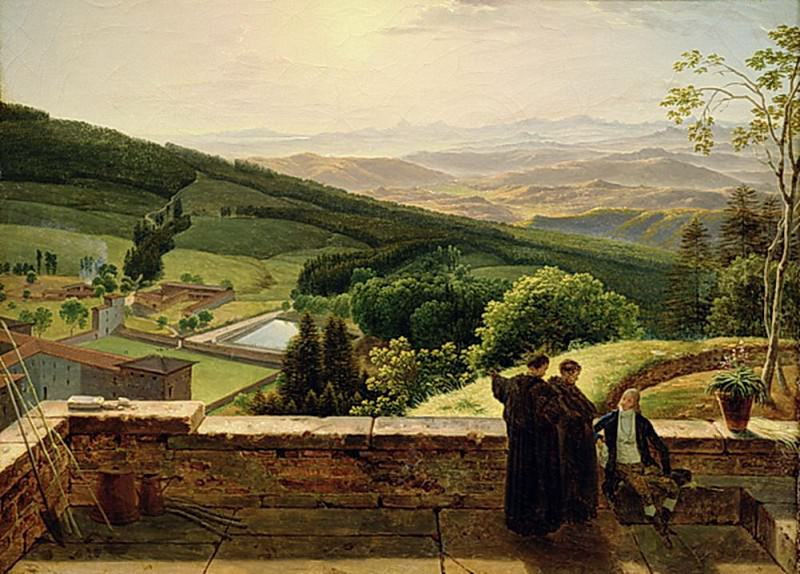 View of Vallombrosa near Florence. Louis Gauffier