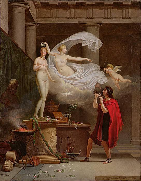 Pygmalion and Galatea. Louis Gauffier