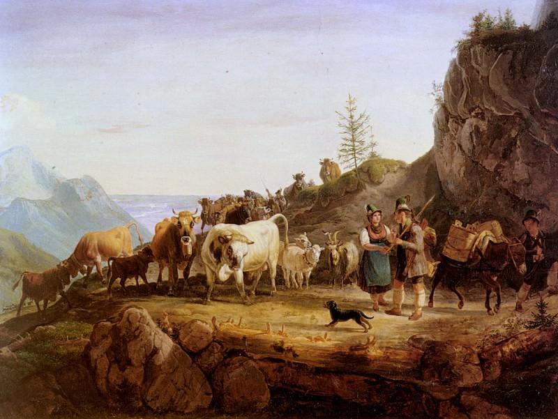 На горное пастбище. Фридрих Гауэрман