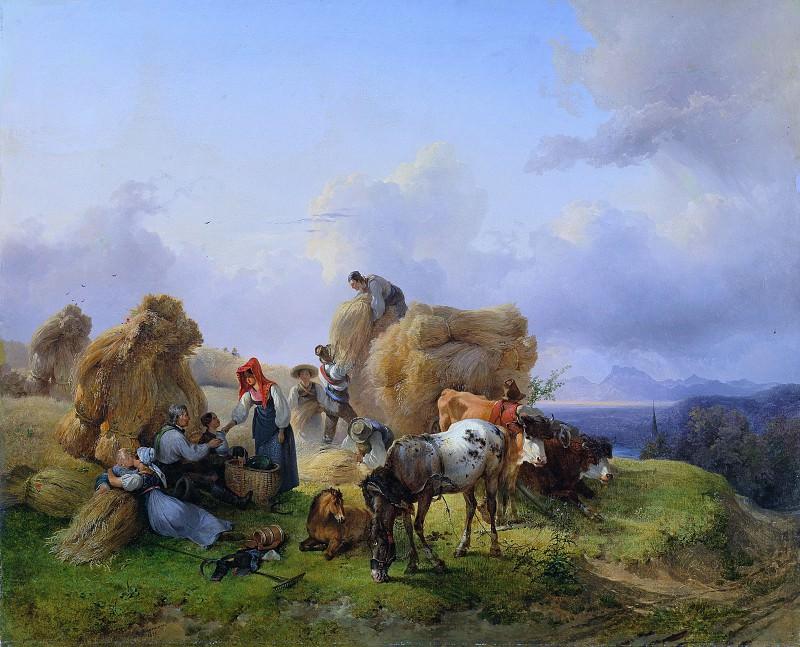 Жатва в предгорье Альп. Фридрих Гауэрман