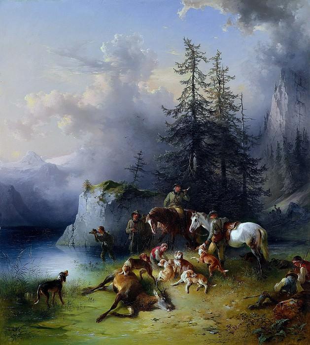 Фридрих Гауэрманн - После охоты. Фридрих Гауэрман (At the End of the Hunt)