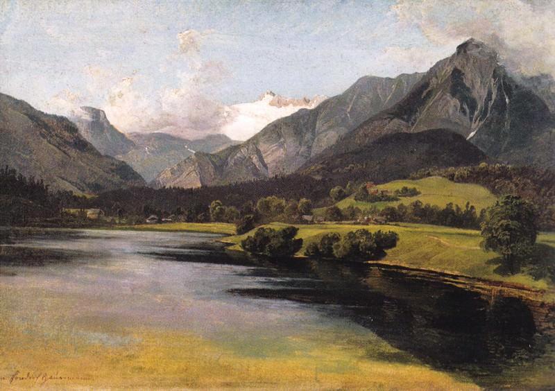 Озеро Альтаузеер в горах Дахштейн. Фридрих Гауэрман