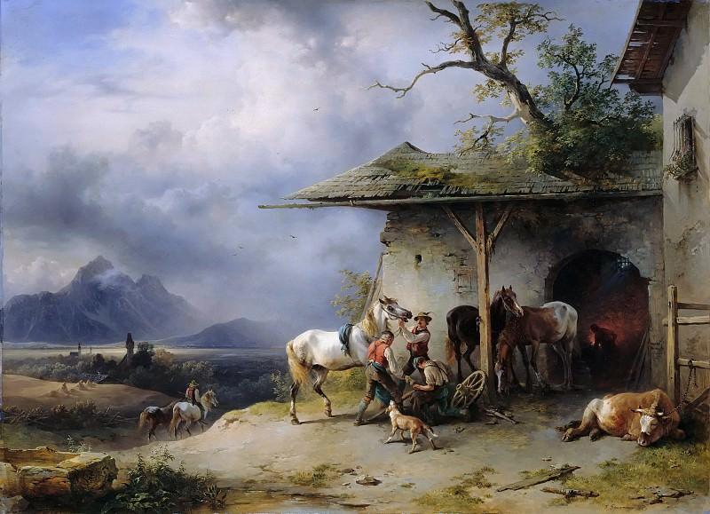 Сельская кузница в Тироле. Фридрих Гауэрман