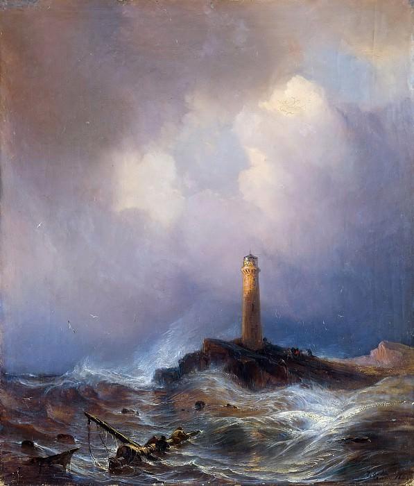 Маяк на берегу Бретани. Теодор Гюден