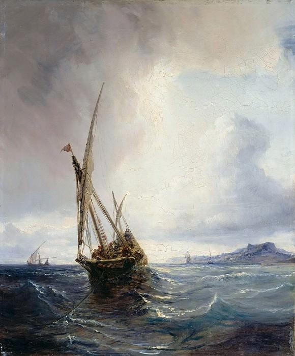 Фелука с контрабандистами у берега близ Бильбао. Теодор Гюден