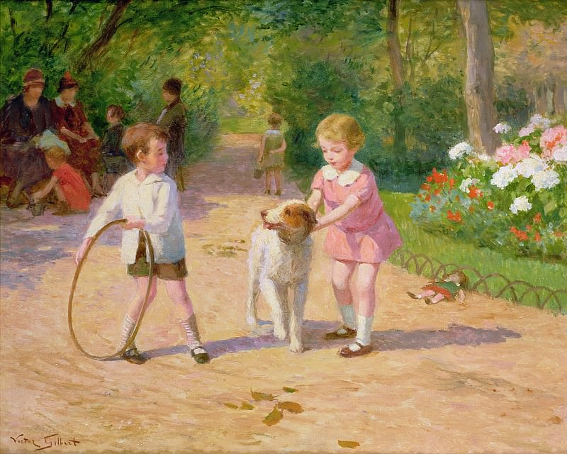 Playing with the Hoop. Victor Gabriel Gilbert