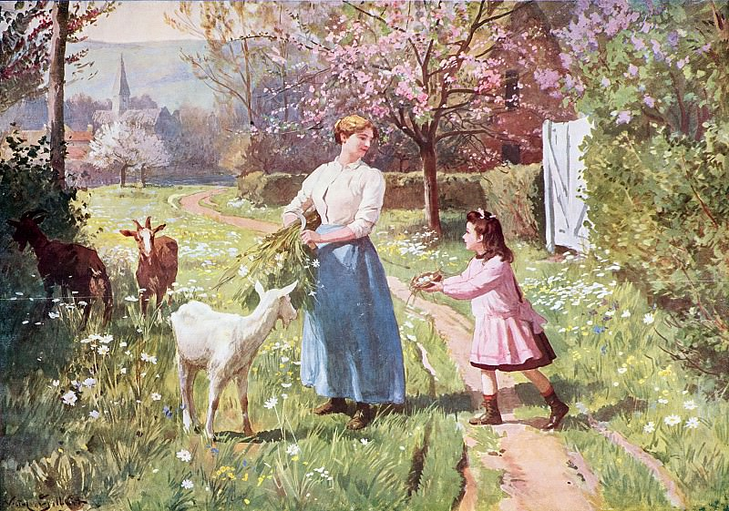 Easter Eggs in the Country, 1908. Victor Gabriel Gilbert