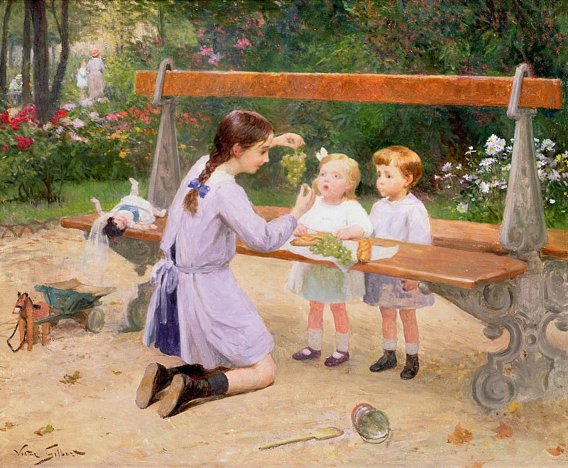 Grape tasting. Victor Gabriel Gilbert