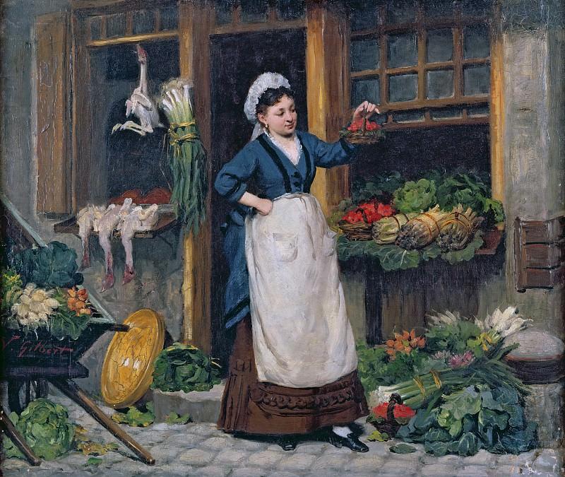 The Fruit Seller. Victor Gabriel Gilbert