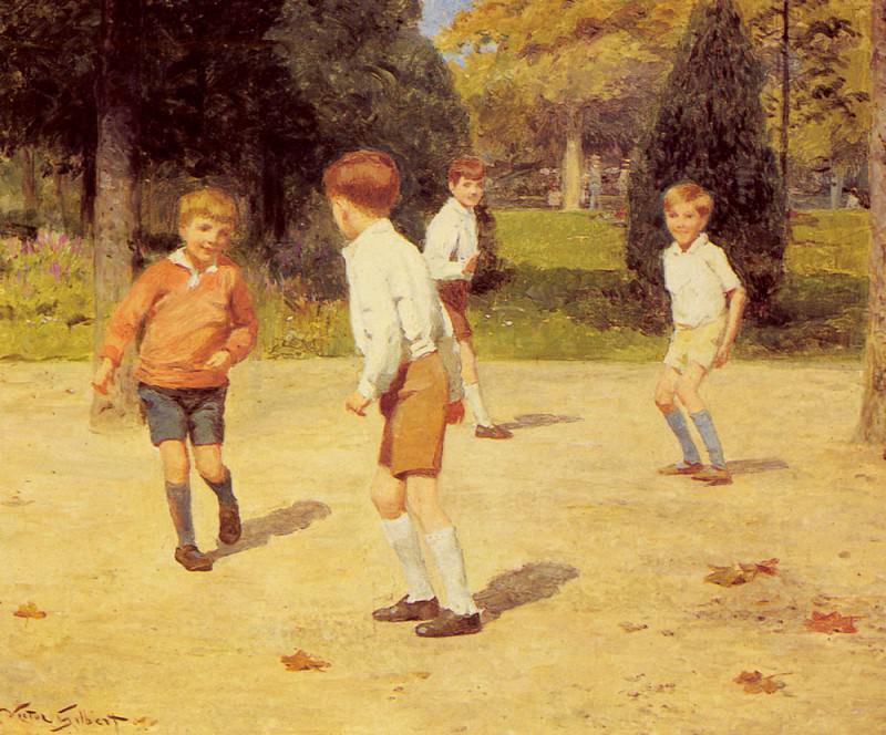Играющие мальчики. Виктор Габриель Жильбер