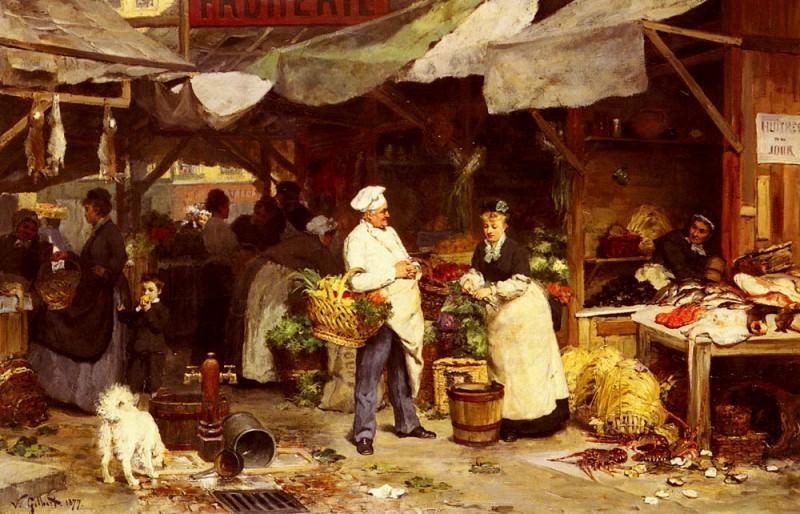 Рынок в Мобёже. Виктор Габриель Жильбер
