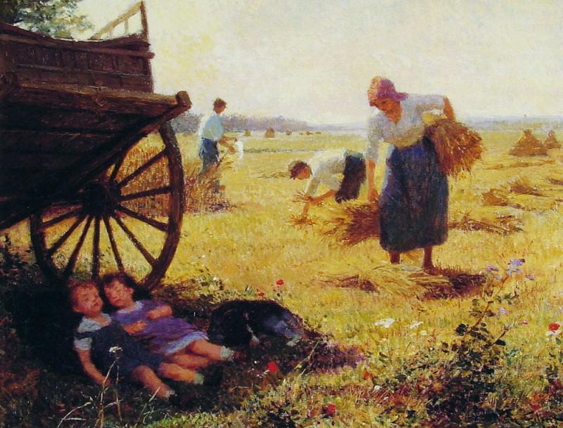 Заготовка сена. Виктор Габриель Жильбер