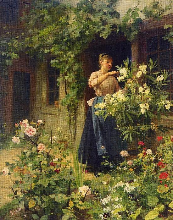Уход за садом. Виктор Габриель Жильбер
