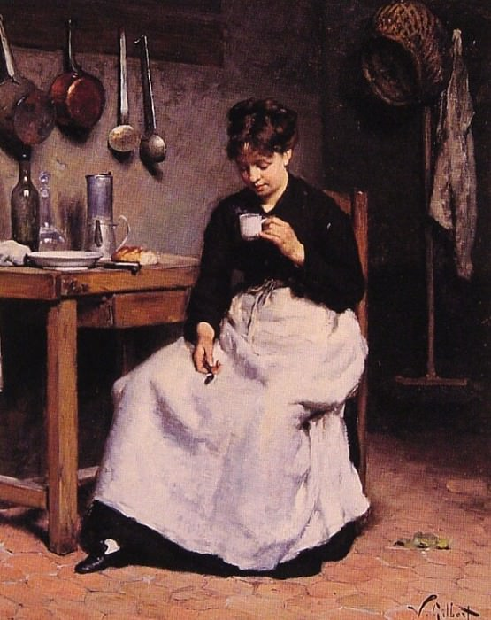 A Cup of Coffee. Victor Gabriel Gilbert