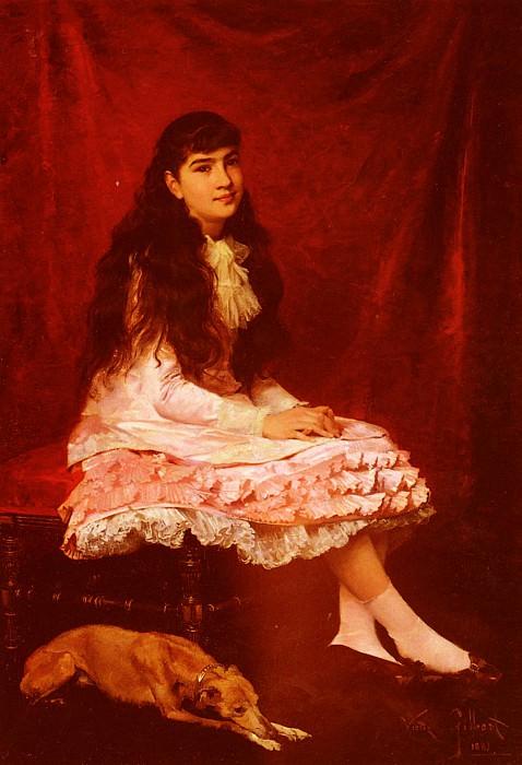 Portrait De Jeune Fille. Victor Gabriel Gilbert