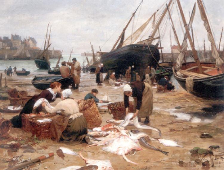 Sorting the Fish. Victor Gabriel Gilbert