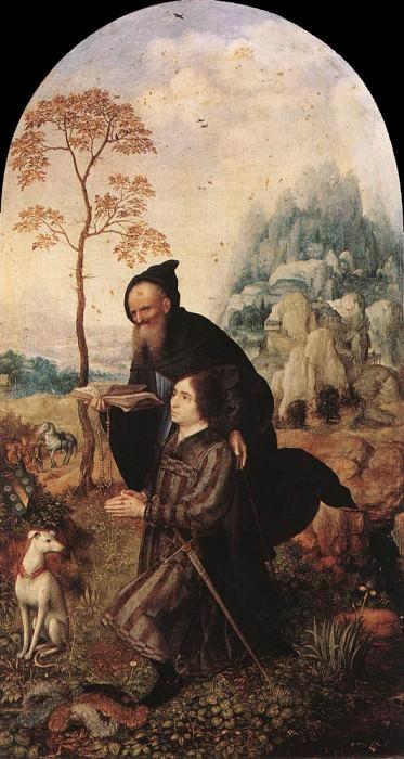 Святой Антоний с донатором. Мабюз Ян Госсарт