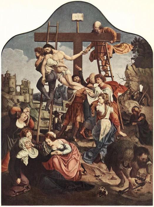 Снятие с креста (Дама, изображенная как Мария Магдалена). Мабюз Ян Госсарт