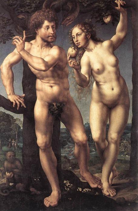 Адам и Ева, 1525. Мабюз Ян Госсарт