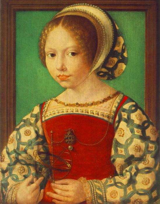 Портрет девочки с астрономическим инструментом. Мабюз Ян Госсарт
