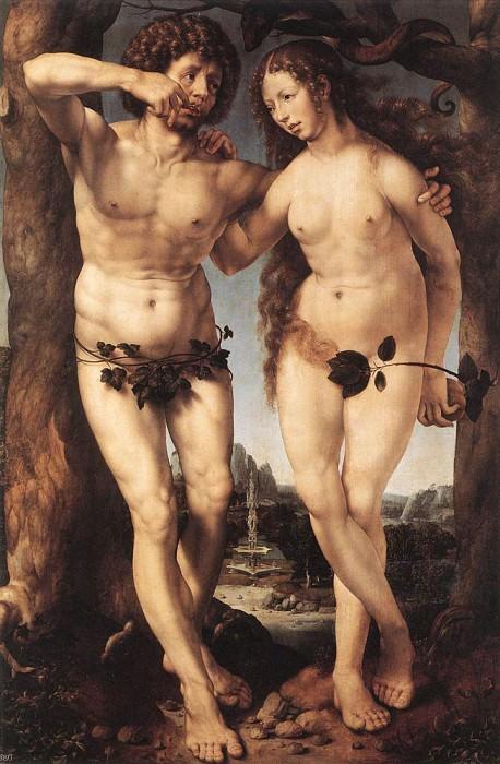 Адам и Ева. Мабюз Ян Госсарт