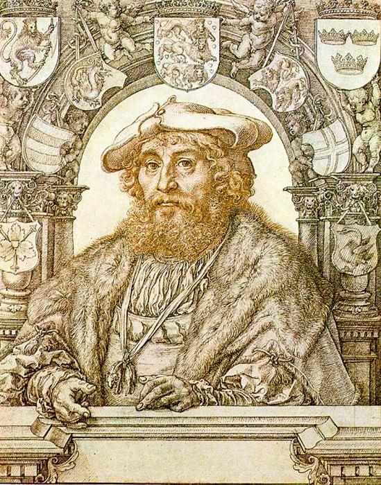 Портрет Христиана II, короля Дании. Мабюз Ян Госсарт