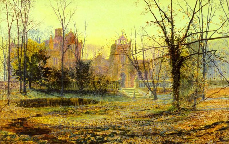 Старый замок Кностроп вечером. Джон Эткинсон Гримшоу