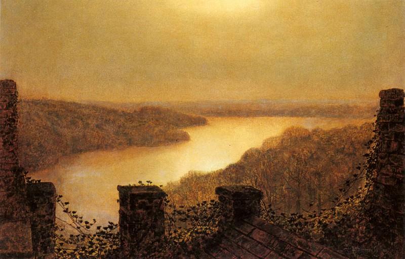 Вид на озеро Раундхэй из замка. Джон Эткинсон Гримшоу
