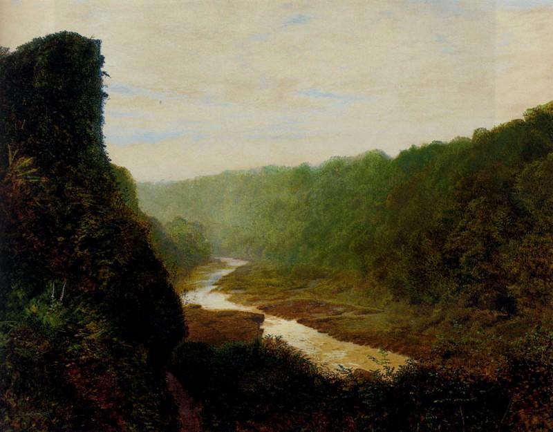 Пейзаж с извилистой рекой. Джон Эткинсон Гримшоу