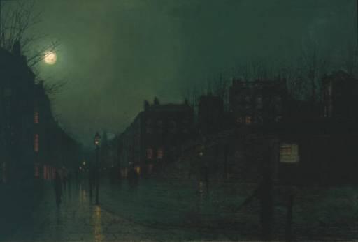 Вересковая улица ночью. Джон Эткинсон Гримшоу